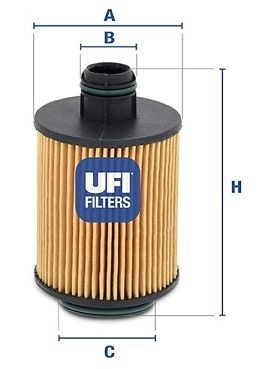 Filtru Ulei UFI 159 - BRERA - SPIDER - MITO - GIULIETTA