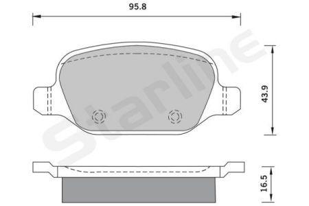 Placute frana spate STARLINE 147 - 156 - GT
