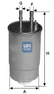 Filtru combustibil UFI 159 - BRERA  - GIULIETTA -MITO- SPIDER