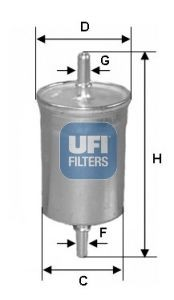 Filtru combustibil UFI GIULIA  2.0 - 2.9