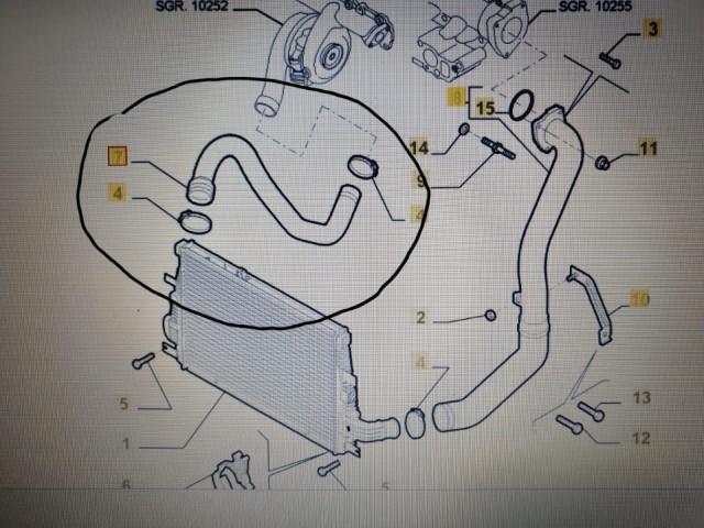 Furtun turbo OE.ORIGINAL  ALFA ROMEO 159-BRERA 2.4 JTDM