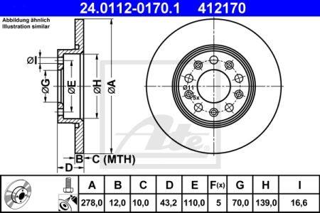DISC FRANA SPATE ATE( 278MM)  159-BRERA-SPIDER-GIULIETTA